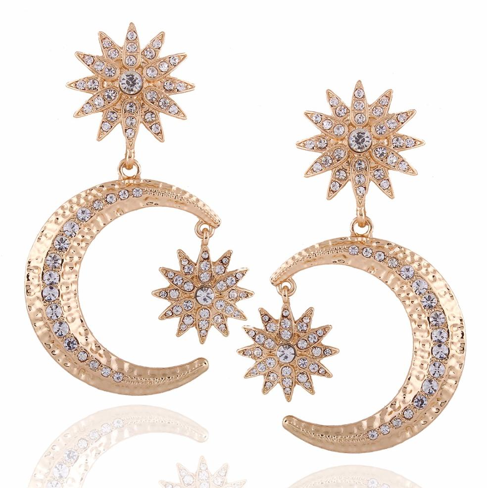 Unique Moon & Star Earrings