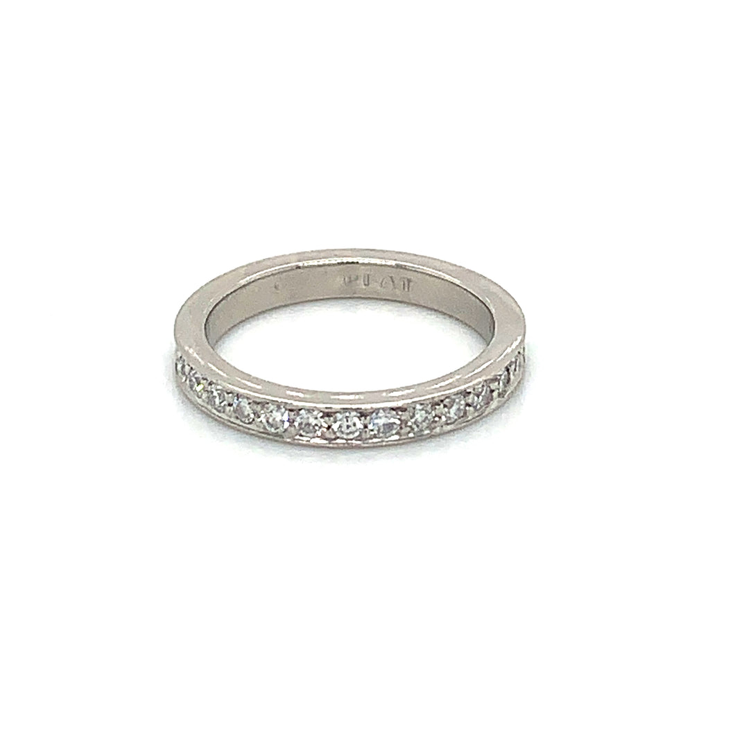 Platinum Diamond Eternity Band Finger Size 5.5