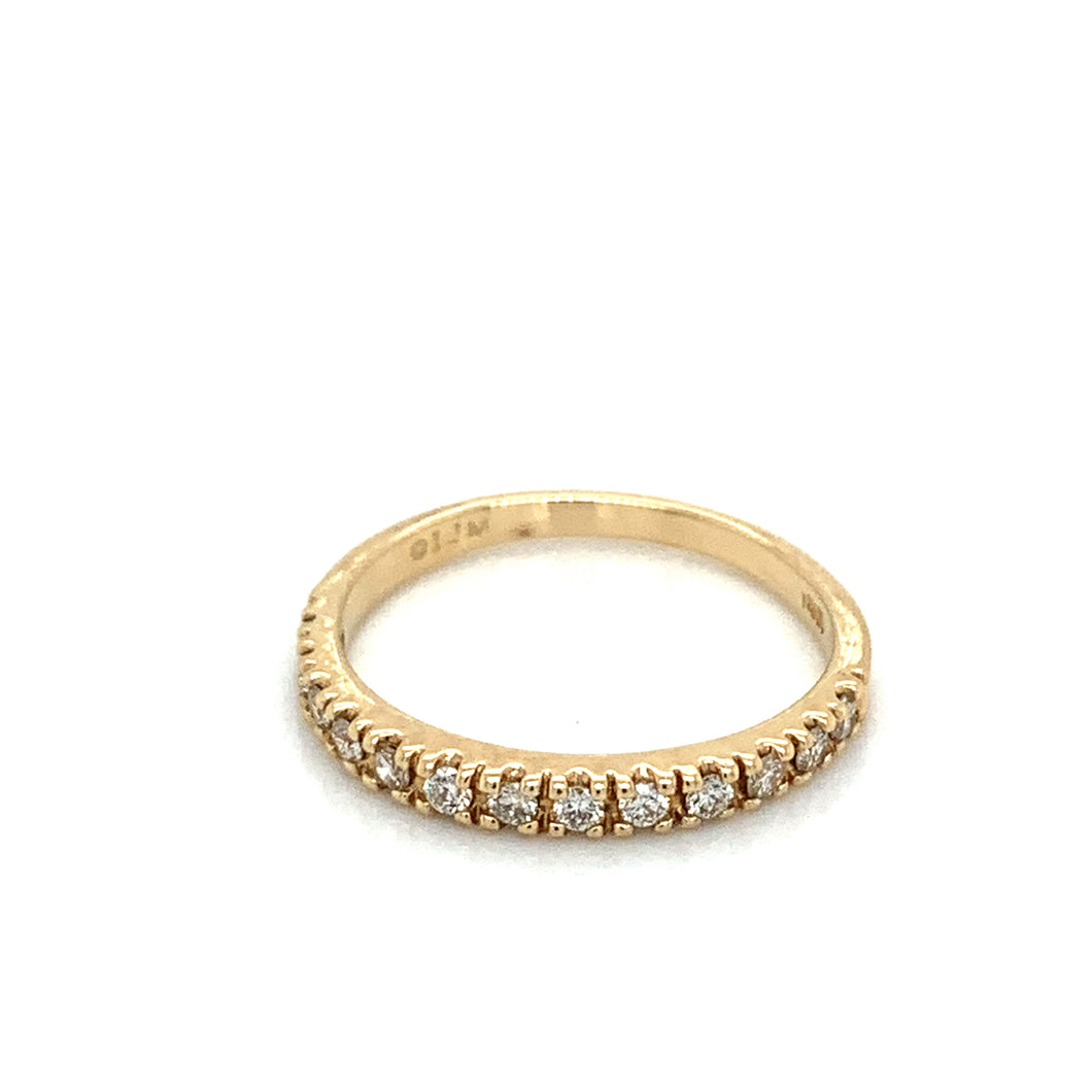 14K Yellow Gold Fishtail Set Diamond Band