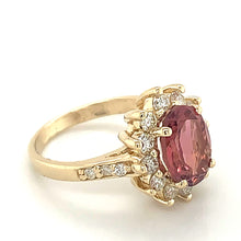 Load image into Gallery viewer, 14K Yellow Gold Pink Tourmaline & Diamond Ring - Online Exclusive
