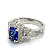 Load image into Gallery viewer, 18K White Gold Tanzanite & Diamond Ring