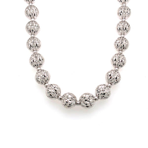 Officina Bernardi Sterling Silver Moon Cut Necklace 8MM