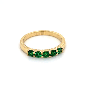18K Yellow Gold Tsavorite Garnet Ring