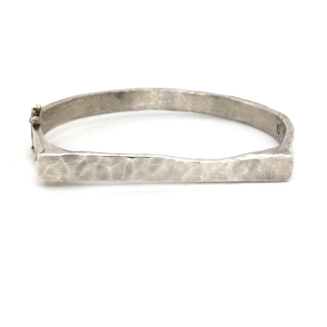 Lika Behar Sterling Silver Hammer Finish Bangle Bracelet