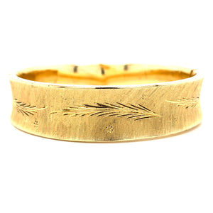 14K Yellow Gold Florentine Bangle Bracelet