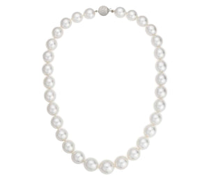 Freshwater Pearl Necklace AAA Quality with 14K White Gold Ball Clasp
