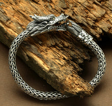Load image into Gallery viewer, Sterling Silver & 18K Yellow Gold Accent Mens Tulang NAGA Dragon Bracelet