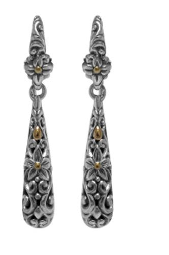 Samuel B. Sterling Silver & 18K Yellow Gold Accent Drop Earrings