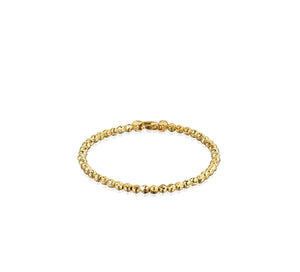 Officina Bernardi Yellow Gold Plated Sterling Silver Moon Cut Bracelet