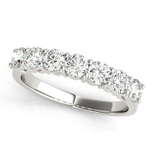 Load image into Gallery viewer, 14K White Gold 7 Stone Diamond Band .50ct Total Diamond Weight