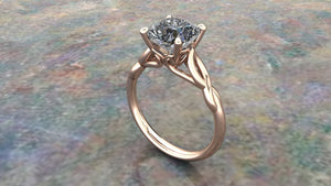 Custom Made Rose Gold Diamond Engagement Ring
