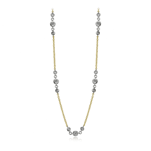 Simon G. 18K Yellow & White Gold Diamond by the Yard Necklace