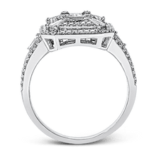 Load image into Gallery viewer, Simon G. 18K White Gold Mosaic Emerald Cut Diamond Ring
