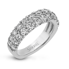 Load image into Gallery viewer, 18K White Gold Two Row Diamond Anniversary Ring