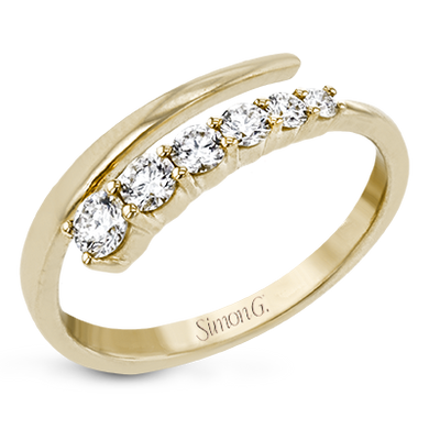 Simon G. 18K Yellow Gold Graduated Diamond Ring