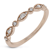Load image into Gallery viewer, 18K Rose Gold Marquise & Round Shape Stacking Ring