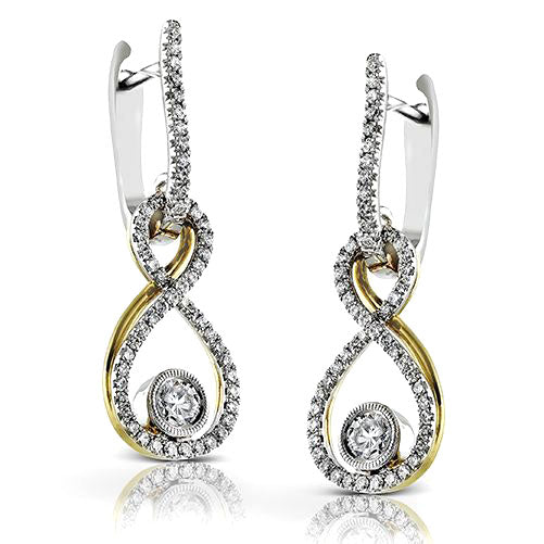 Simon G 18K White & Yellow Gold Infinity Diamond Dangle Earring