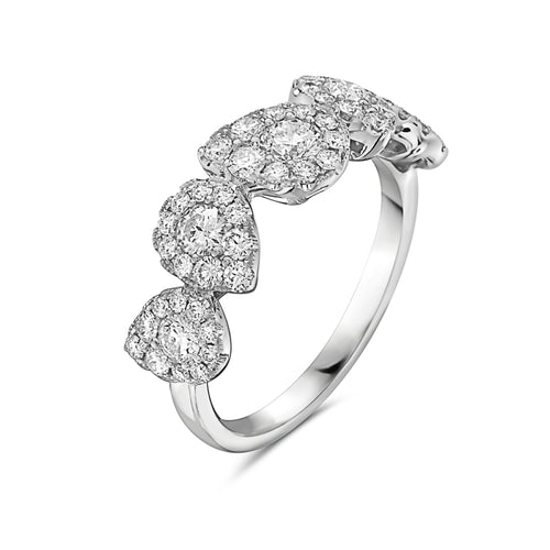 14K White Gold Multi-Shape Diamond Ring