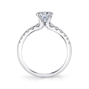 Sylvie Celine 14K White Gold Classic Diamond Engagement Ring - S1499