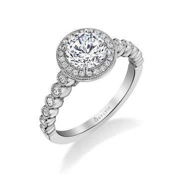 Sylvie Marion - Stackable Halo Engagement Ring S1812