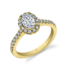 Load image into Gallery viewer, Sylvie Chantelle SY999 - Oval Engagement Ring With Halo