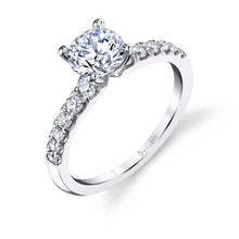 Load image into Gallery viewer, Sylvie Celine 14K White Gold Classic Diamond Engagement Ring - S1499