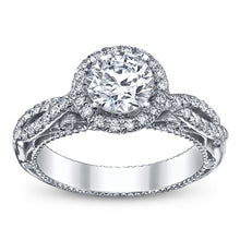 Load image into Gallery viewer, Verragio Venetian AFN-5005R Diamond Halo Pave Engagement Ring