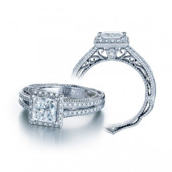 Verragio Venetian AFN-5007P Halo Pave Diamond Engagement Ring