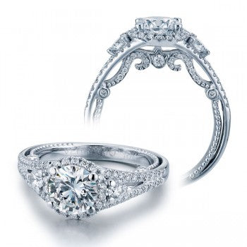 Verragio Insignia INS-7068R Diamond Halo Pave Engagement Ring
