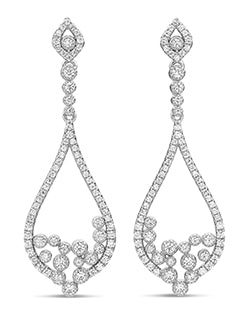 Sterling Silver Cubic Zirconia Chandelier Drop Earrings