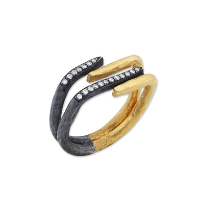Lika Behar 24K Gold & Oxidized Sterling Silver Four Row