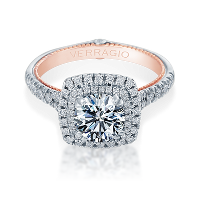 Verragio Couture ENG-0425CU White & Rose Gold Diamond Engagement Ring