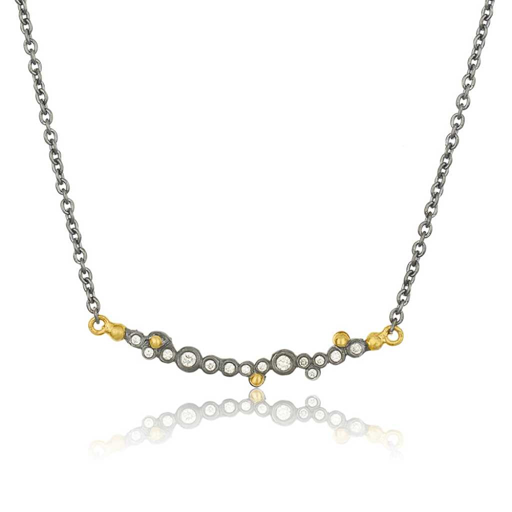 Lika Behar 24K Gold & Sterling Silver Diamond Bubble Necklace