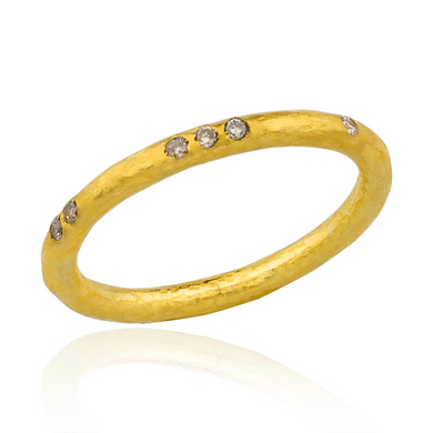 Lika Behar 24K Gold Champagne Diamond Band
