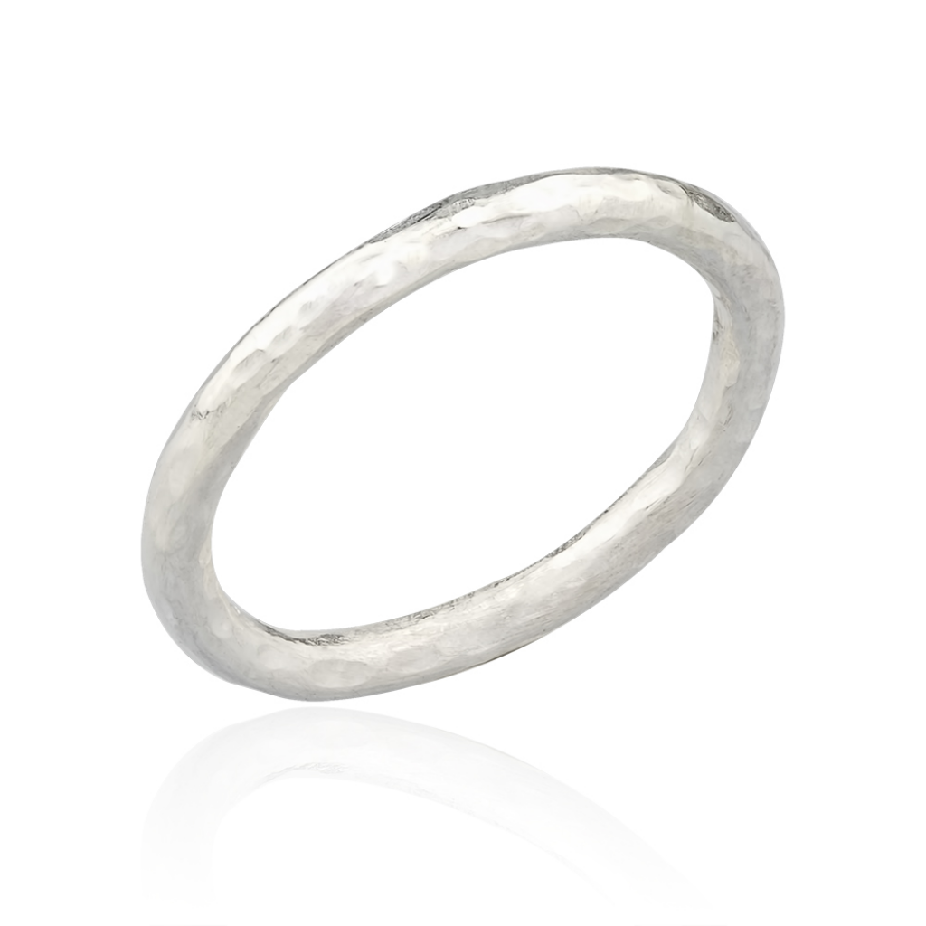 Lika Behar Sterling Silver Hammered Band Ring