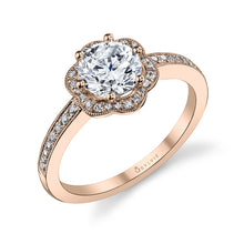 Load image into Gallery viewer, Sylie S1085 Lilian - Flower Halo Engagement Ring