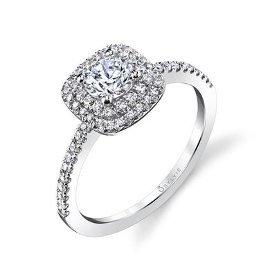 Sylvie Melodie - Classic Double Halo Engagement Ring S1097