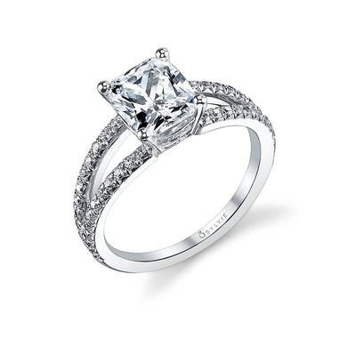 Sylvie Marie - Cushion Cut Split Shank Engagement Ring S1101