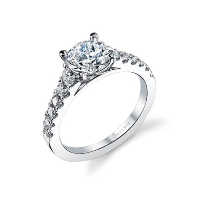 Sylvie Luna - Classic Solitaire Diamond Engagement Ring S1127