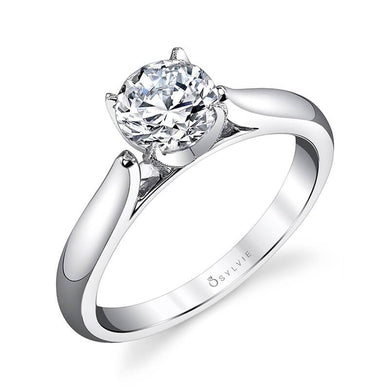 Sylvie Aubree - Modern Solitaire Engagement Ring S1300