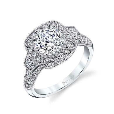 Sylvie Mirabelle - Vintage Inspired Engagement Ring S1356S