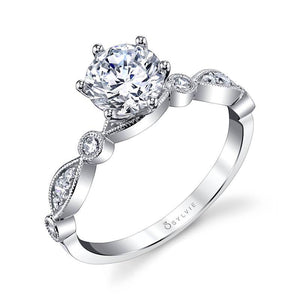Sylvie Charmánt - Stackable Engagement Ring S1511
