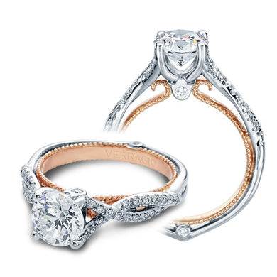 Verragio Venetian ENG-0421R 18K White & Rose Gold Engagement Ring