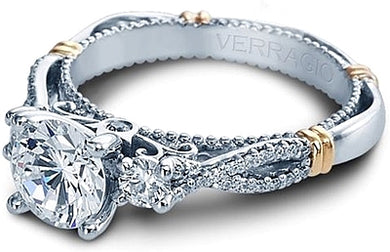 Verragio Parisian D129R Three Stone Diamond Engagement Ring