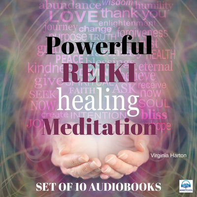 Powerful Reiki Healing Meditation SET OF 10 AUDIOBOOKS front cover