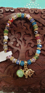 Evil eye bracelet with charms