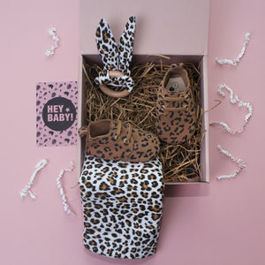 Leopard Lovers Tan Unisex New Baby Gift Set