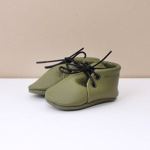 Olive Unisex Laced Booties