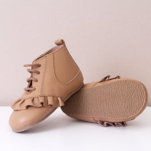 Marlowe Frill Tan Girls Boots