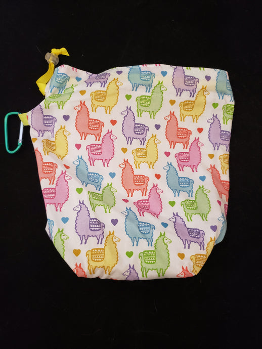 Pastel Alpacas Project Bag